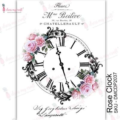 Dress my Craft - Transfer Me «Rose Clock»