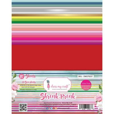 Dress my Craft - Papier Shrink Prink «Brillant» 20 feuilles