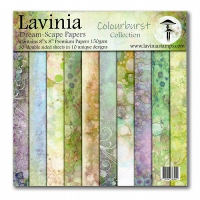 "Lavinia - Ensemble de papier «Dreamscape Colourburst» 8"" x 8"""