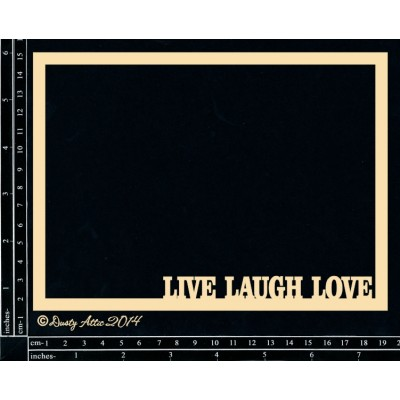 Dusty Attic - Chipboard  «Live, Love, Laugh Frame»