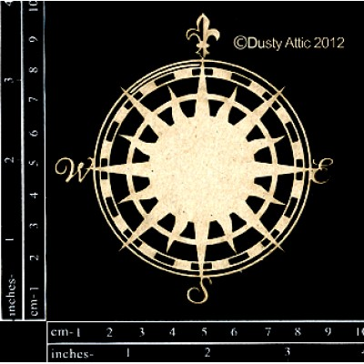 Dusty Attic - Chipboard «Compass Rose»