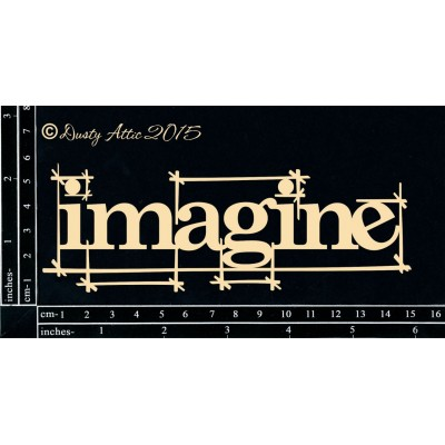 Dusty Attic - Chipboard «Blueprint Imagine»