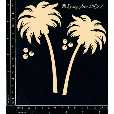 Dusty Attic - Chipboard «Palm Trees»