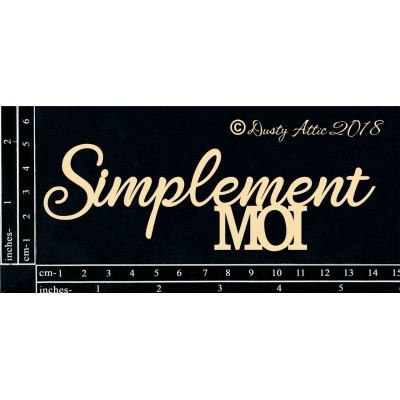 Dusty Attic - Chipboard «Simplement Moi»