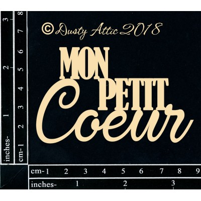 Dusty Attic - Chipboard «Mon Petit Coeur»