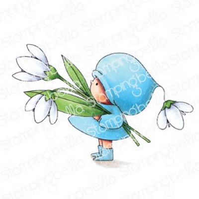Stamping Bella - estampe «Bundle Girl With a Snowdrop»
