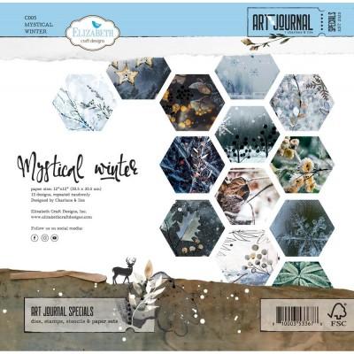 "Elizabeth Crafts - Ensemble de papier «Mystical Winter» 12 ""X12"" recto-verso 12 feuilles / Pqt"