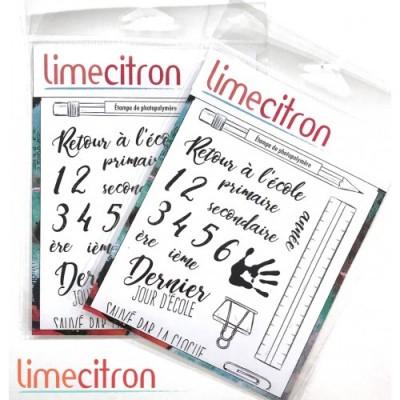 Lime Citron - estampe «Retour à l'école» 18 pièces