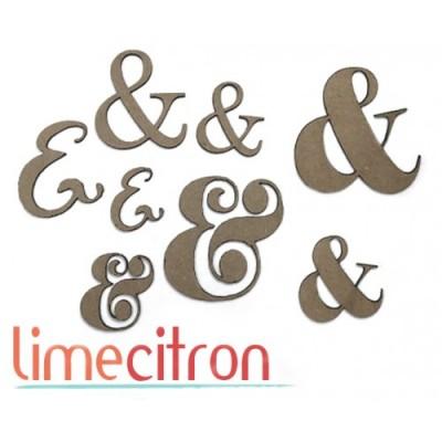 Lime Citron - Chipboard «Esperluettes» 8 pcs