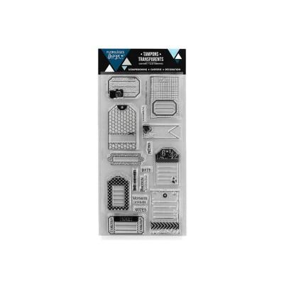 Florilèges Design - Estampes claires  «Folles Étiquettes» 15 pièces