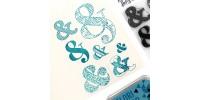 Florilèges Design - Estampes claires  «Multi Esperluettes» 7 pièces