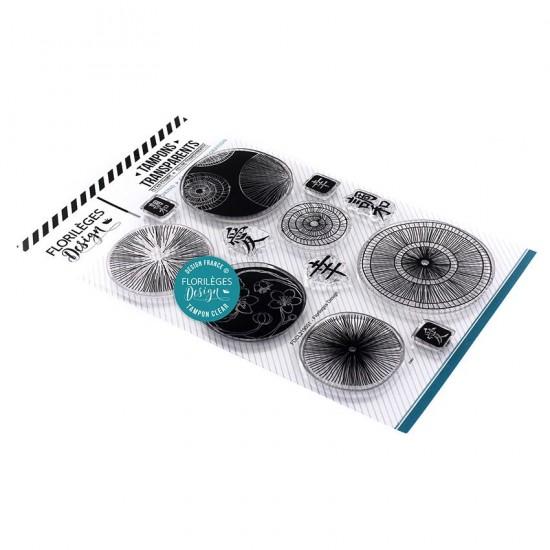 Florilèges Design - Estampes claires  «Bulles Nippones» 12 pièces