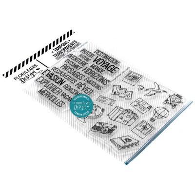 Florilèges Design - Estampes claires  «Destination Évasion» 2 pièces
