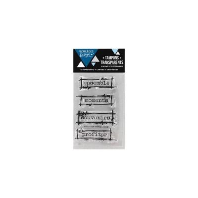 Florilèges Design - Estampes claires  «Étiquettes à gribouillis» 4 pièces