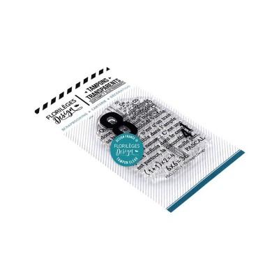 Florilèges Design - Estampes claires «Texte de Pascal»