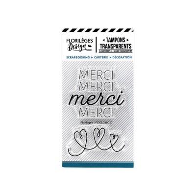 Florilèges Design - Estampes claires  «Merci de tout coeur» 2 pièces