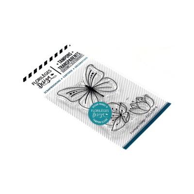 Florilèges Design - Estampes claires  «Papillons et Fleurs» 2 pièces