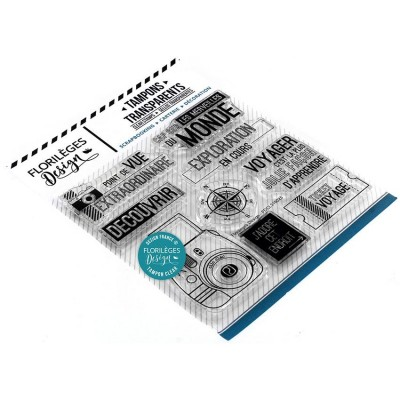 Florilèges Design - Estampes claires  «Cap sur le monde» 9 pièces