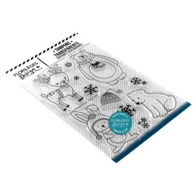 Florilèges Design - Estampes claires  «Hiver mignon» 11 pièces