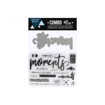 Florilèges Design - Combo Clear Die «Moments» 18 pièces
