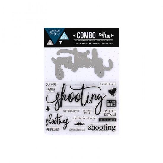 Florilèges Design - Combo Clear Die «Shooting» 18 pièces
