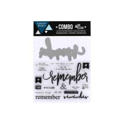Florilèges Design - Combo Clear Die «Remember» 18 pièces