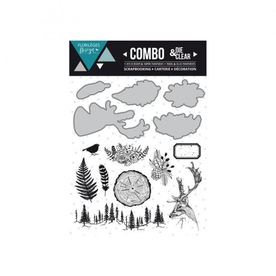 Florilèges Design - Combo Clear Die «Into the woods» 14 pièces
