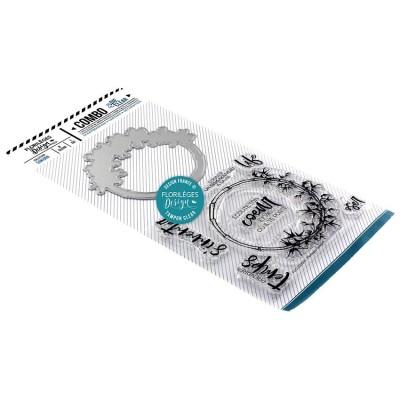 Florilèges Design - Combo Clear Die «Couronne de bambou» 9 pièces