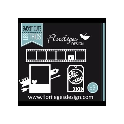 Florilèges Design - Outils De Découpe «Clic Clac Love» 3 pièces