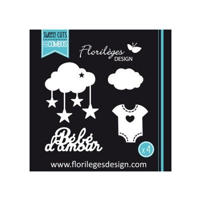 Florilèges Design - Outils De Découpe «Bébé d'amour» 4 pièces