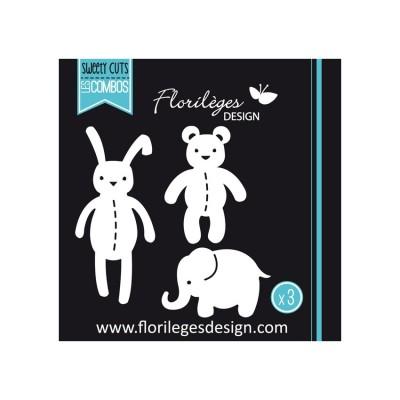 Florilèges Design - Outils De Découpe «Les doudous» 3 pièces