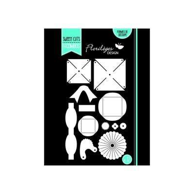 Florilèges Design - Outils De Découpe «Décos en Volume» 12 pièces