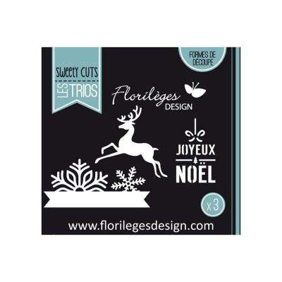 Florilèges Design - Outils De Découpe «Flocons de Noël» 3  pièces