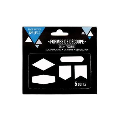 Florilèges Design - Outils De Découpe «Cinq formes» 5 pièces