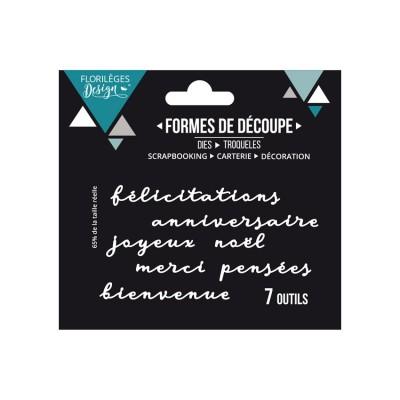 PRÉCOMMANDE- Florilèges Design - Outils De Découpe «Mots de carterie» 7 pièces