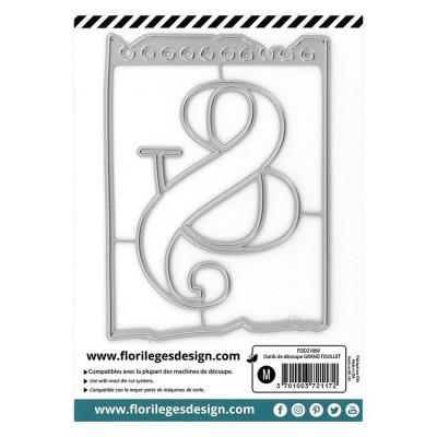 Florilèges Design - Outils De Découpe «Grand feuillet» 2 pièces