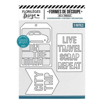 Florilèges Design - Outils De Découpe «Travel and Scrap» 3 pièces