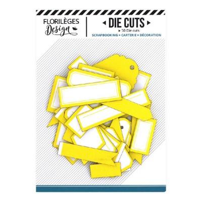 PRÉCOMMANDE-  Florilèges Design - Éphéméra «Etiquettes N°03 Jaune Soleil» 50 pièces