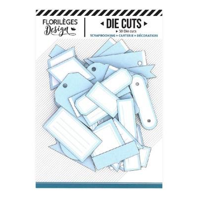 PRÉCOMMANDE-  Florilèges Design - Éphéméra «Etiquettes N°06 Bleu Ciel» 50 pièces