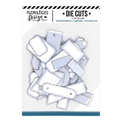 PRÉCOMMANDE-  Florilèges Design - Éphéméra «Etiquettes N°08 Bleu acier» 50 pièces