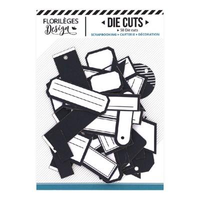 PRÉCOMMANDE-  Florilèges Design - Éphéméra «Etiquettes N°11 bleu nuit» 50 pièces