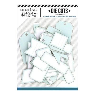 PRÉCOMMANDE-  Florilèges Design - Éphéméra «Etiquettes N°13 Vert d'eau» 50 pièces