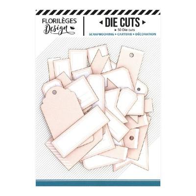 PRÉCOMMANDE-  Florilèges Design - Éphéméra «Etiquettes N°14 Rose pêche» 50 pièces