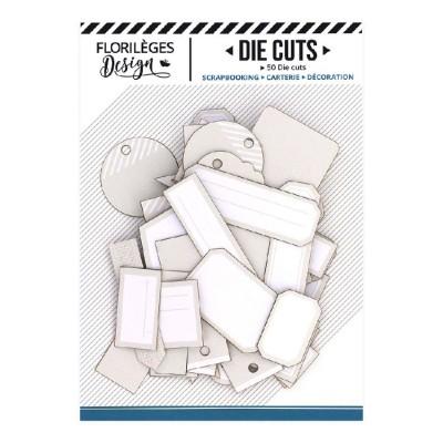 PRÉCOMMANDE-  Florilèges Design - Éphéméra «Etiquettes N°15 Beige Lin» 50 pièces