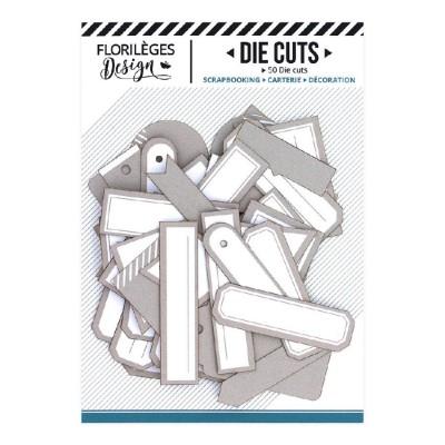 PRÉCOMMANDE-  Florilèges Design - Éphéméra «Etiquettes N°18 Beige Angora» 50 pièces