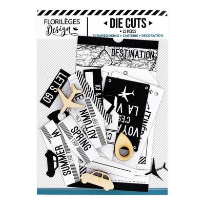 Florilèges Design - Éphéméra «Ticket voyage blanc» 23 pièces
