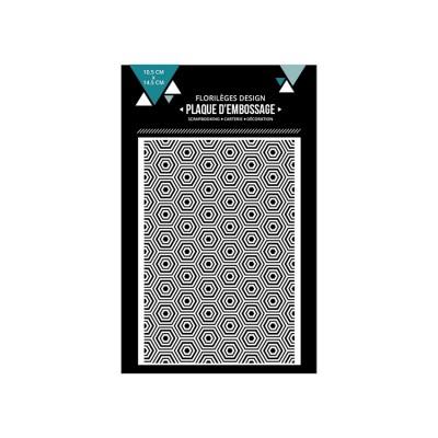 Florilèges Design - Plaque d'embossage «Hexagones imbriqués»