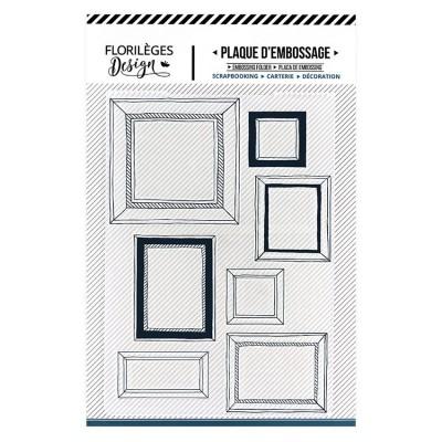 Florilèges Design - Plaque d'embossage «Mur de cadres»