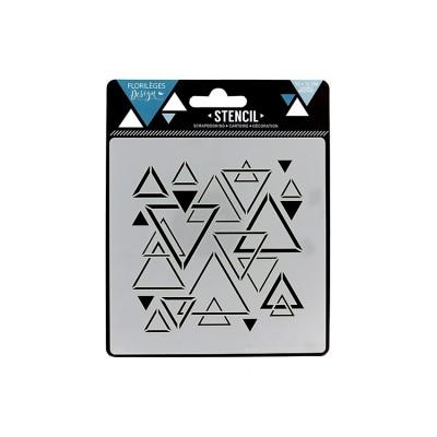 Florilèges Design - Pochoir modèle «Triangles mêlés»