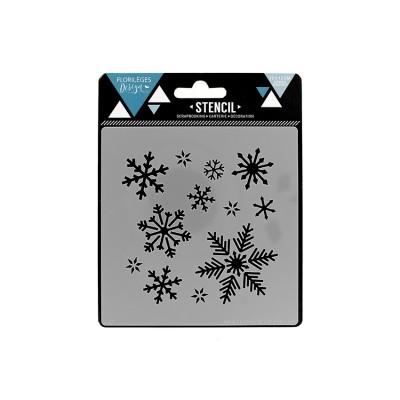 Florilèges Design - Pochoir modèle «Flocons d'hiver»